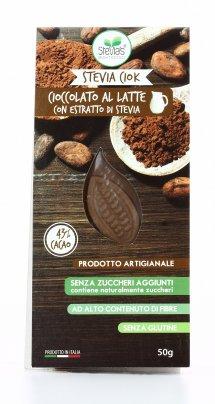 Cioccolato al Latte con Stevia - Confezione Flowpack