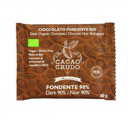 Cioccolato Crudo Biologico Fondente 90%