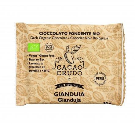 Cioccolato Crudo Biologico Gianduia con Nocciole