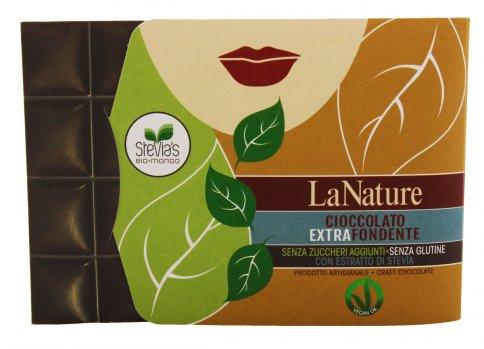 Cioccolato Extra Fondente con Stevia - Conf. Cartone