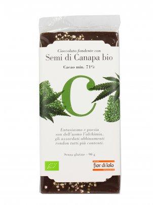 Cioccolato Fondente con Canapa Bio