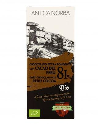 Cioccolato Extra Fondente 81% con Cacao del Perù