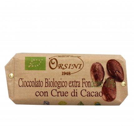 Cioccolato Bio Fondente 70% con Crue di Cacao