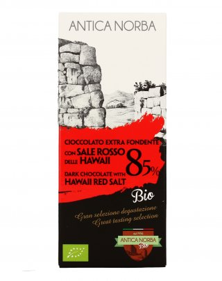 Cioccolato Extra Fondente 85% con Sale Rosso delle Hawaii