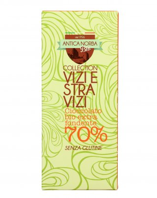 "Cioccolato Bio Extra Fondente 70% ""Vizi e Stravizi Collection"""