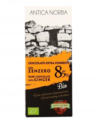 Cioccolato Extra Fondente 85% con Zenzero