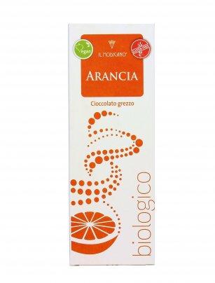Cioccolato Grezzo Fondente all'Arancia Bio