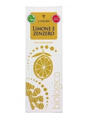 Cioccolato Fondente Grezzo con Limone e Zenzero Bio