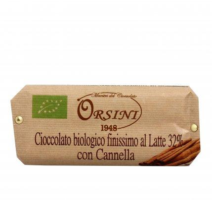 Cioccolato Bio Finissimo al Latte 32% con Cannella