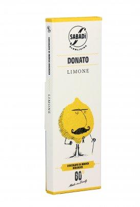 Cioccolato di Modica Bio con Scorzette di Limone - Donato