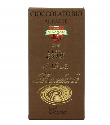 Cioccolato Bio con Pasta di Mandorle 25%