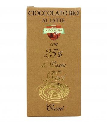 Cioccolato Bio con Pasta di Noci 25%