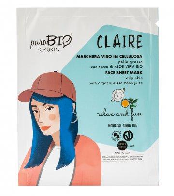 Maschera Viso con Aloe Bio - Relax and Fun Pelle Grassa (Claire)
