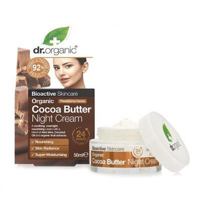 Crema Viso Idratante Notte al Cacao - Organic Cocoa Butter