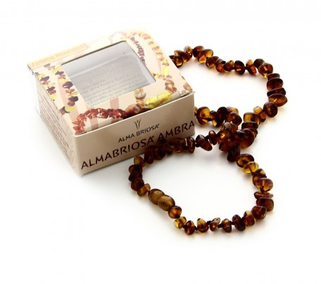 Collana Ambra Mamma - Rounded Cognac