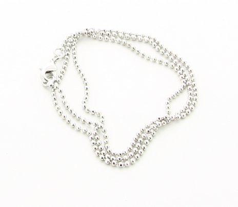 Collana in Rame Argentato di Tipo Topo Diamantato