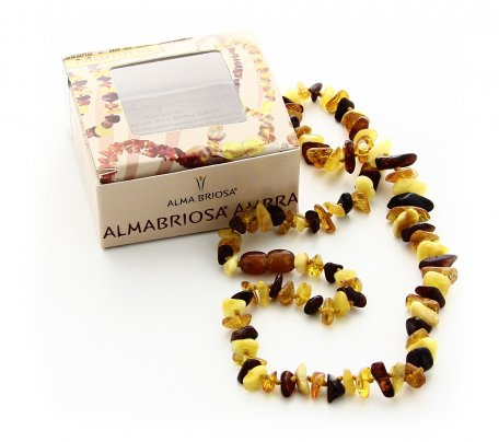 Collana Ambra Mamma - Nugget Multicolor