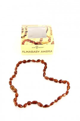 Collanina Ambra Baby - Cherry Bean