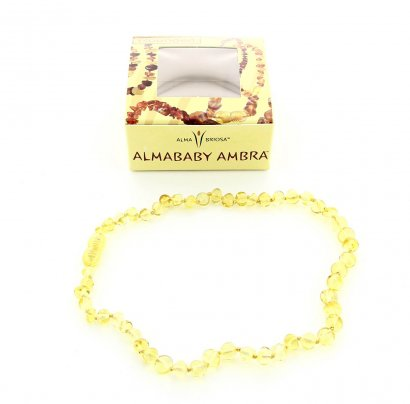 Collanina Ambra Baby - Rounded Honey