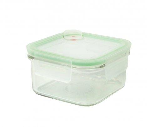 Contenitore Quadrato in Vetro per Alimenti - Air Square Microwave 485 ml.