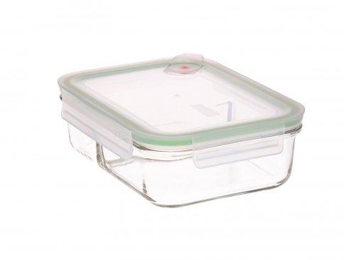 Contenitore Rettangolare in Vetro per Alimenti - Duo Air Microwave 920 ml.