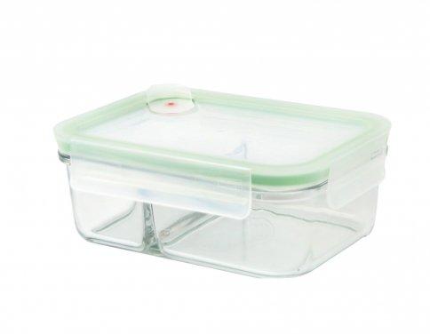 Contenitore Rettangolare in Vetro per Alimenti - Duo Air Microwave 670 ml.