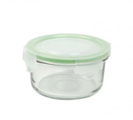 Contenitore Rotondo in Vetro per Alimenti - Classic Type Microwave 370 ml.