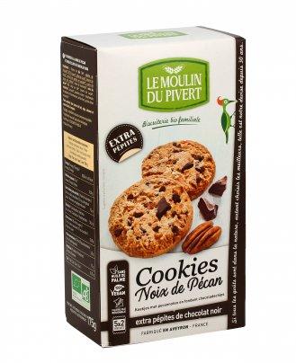 Cookies con Noci Pecan e Pepite di Cioccolato Fondente