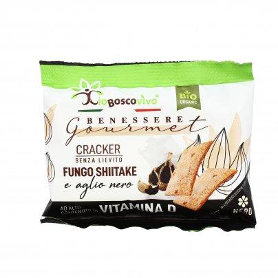 Cracker Gourmet Senza Lieviti con Fungo Shiitake e Aglio Nero