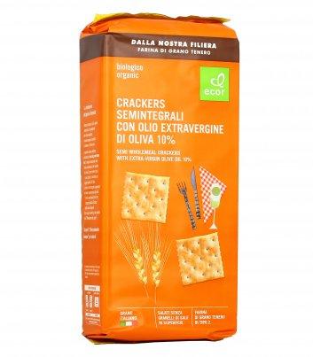 Crackers Semintegrali con Olio Extravergine di Oliva Bio