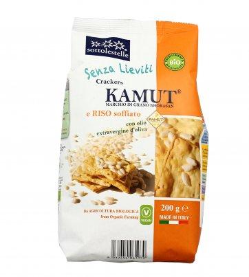 Crackers Bio Kamut di grano Khorasan e Riso Soffiato