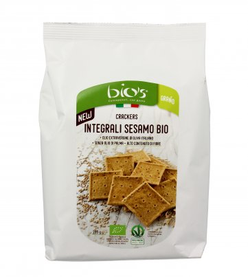 Crackers Integrali Sesamo Bio