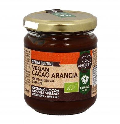 "Crema Cacao e Arancia con Nocciole ""Go Vegan"""