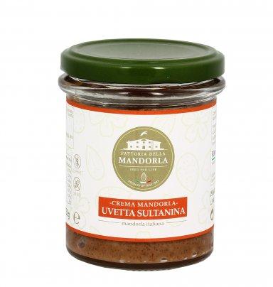 Crema Mandorla Bio con Uvetta Sultanina