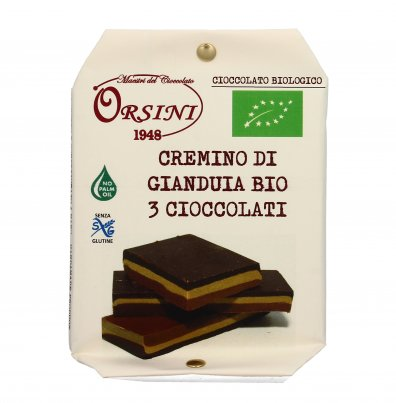 Cremino di Gianduia Bio 3 Cioccolati