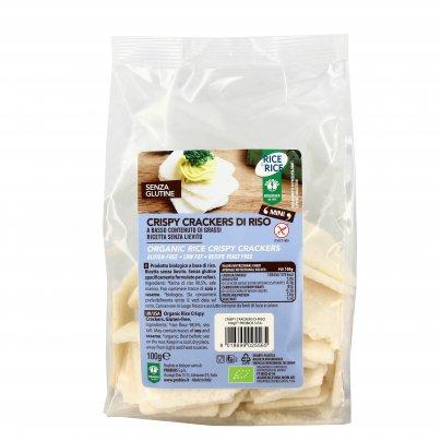 """Crispy Cracker di Riso Senza Lievito e Senza Glutine """"Rice&Rice"""""""