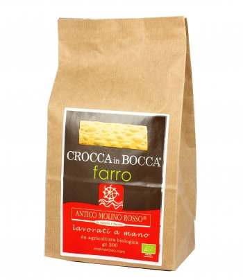 Snack Salato - Crocca In Bocca al Farro Integrale Bio