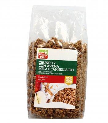 Crunchy con Avena, Mela e Cannella Bio