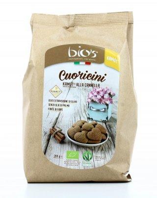 Biscotti Cuoricini KAMUT® - grano khorasan e Cannella