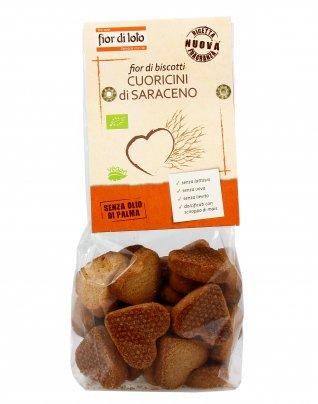 Biscotti Cuoricini di Saraceno Integrali