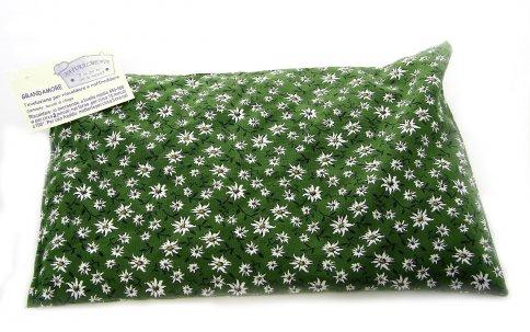Cuscino con Noccioli di Ciliegia Rettangolare Verde