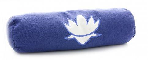 Cuscino Neckroll in Pula con Loto alla Lavanda Blu