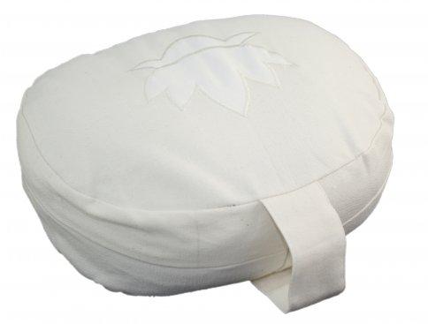 Cuscino Ovale in Pula Bianco