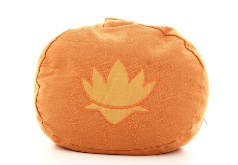 Cuscino Ovale in Pula Arancione
