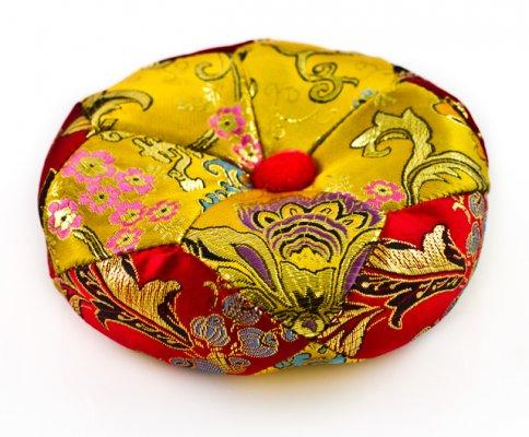 Cuscino Raso Medio per Campana Tibetana - Diametro 12 cm.