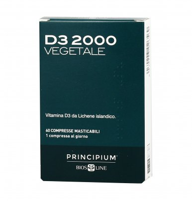 D3 2000 Vegetale - Integratore di Vitamina D3 da Lichene islandico