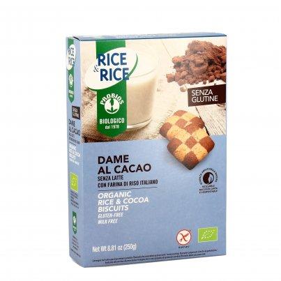 """Biscotti """"Dame al Cacao"""" con Riso Senza Glutine - Rice&Rice"""
