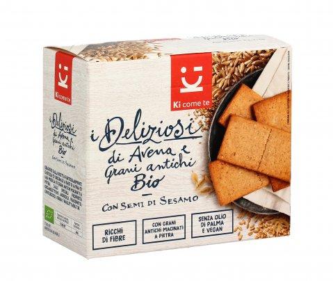 Crackers di Avena e Grani Antichi Bio