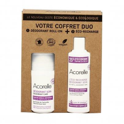 Deodorante Roll On con Fiori di Camomilla + Ricarica (Confezione Eco Risparmio)