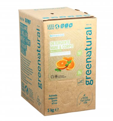 Detergente Delicato Mani e Corpo - Menta e Arancio 5 kg (Eco Box Sfuso)